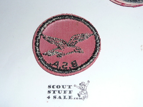 Seagull Patrol Medallion, Red Twill with red rubber backing, 1955-1971