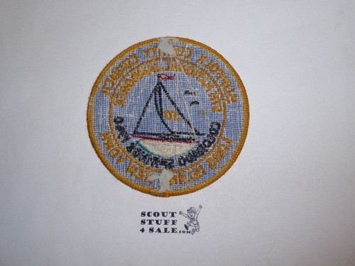 1960 National Jamboree Jamboree Council Patch - Suffolk County Council, a little glue/paper on back