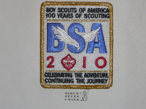 2010 100th Boy Scout Anniversary SPECIAL Gold Mylar Commemorative Patch