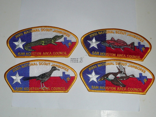 2005 National Jamboree JSP - Sam Houston Council, set of 10