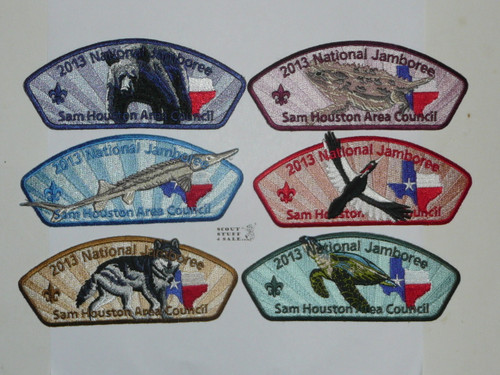 2013 National Jamboree JSP - Sam Houston Area Council, set of 11