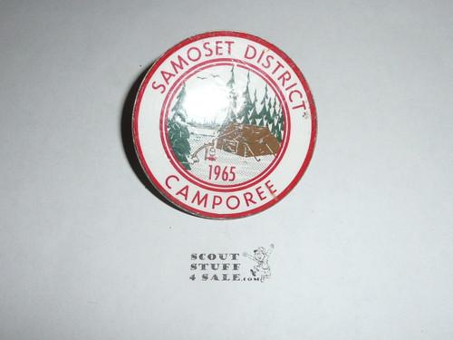 1965 Samoset District Camporee neckerchief slide