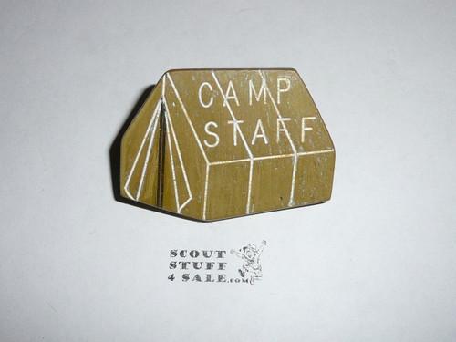 Camp Staff Tent Green w/white highlights NEAL Neckerchief Slide - RARE