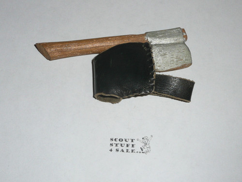 Carved Axe and leather Sheath Neckerchief Slide
