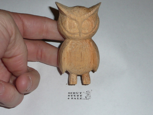 Owl Wood Carved Neckerchief Slide