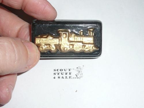 Train in Lucite Neckerchief Slide