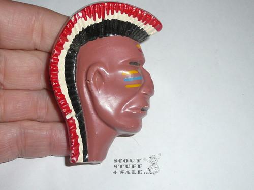 Indian Brave Plaster Neckerchief Slide