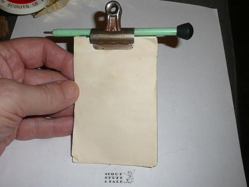 Pen and Paper Pad Neckerchief Slide