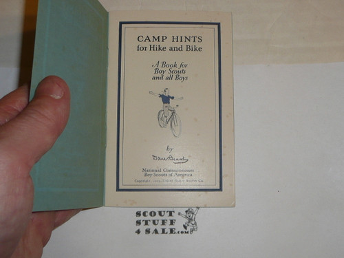 1925 Camp Hints for Hike and Bike, By Dan Beard