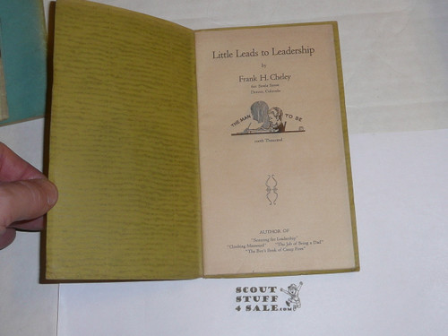 1928 Little Leads to Leadership, By Frank Cheley, Little Loose Leaf Series