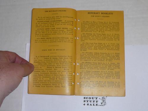 1920's Boycraft Catalog, By The Boycraft Company, Approved by the BSA, Very Rare!