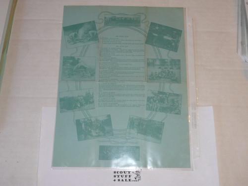 1924 Letter on Boy Scout National Headquarters Stationary From James West regarding Veteran membership, ORIGINAL SIGNATURE