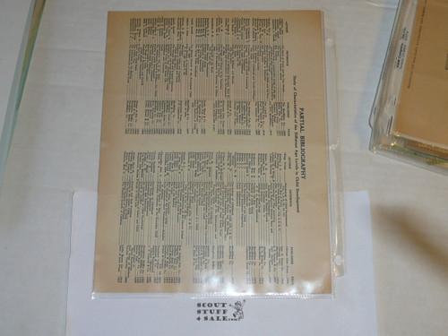 "1928 Memo Regarding ""Younger Boy Program"" and Bibliography"