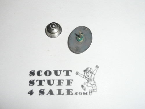 Eagle Scout Tie Tack, 1940's STERLING Silver, Type 3 style of pin, VERY RARE