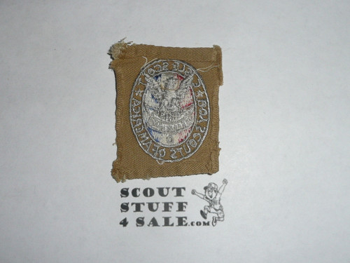 agle Scout Patch, Type 2, 1933-1955, Fine Twill variety, sewn