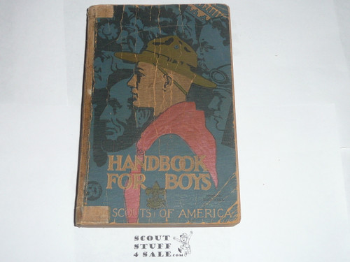1938 Boy Scout Handbook, Third Edition, Thirtieth Printing, Norman Rockwell Cover, used with cover and spine wear, taped spine