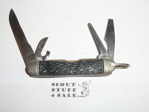Boy Scout Knife, Camillus Manufacturer, Used and missing emblem, BS002