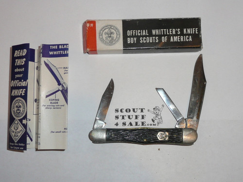 Boy Scout Knife, Camillus Manufacturer, Whittler's Knife with Box, used