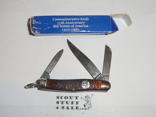 Boy Scout Knife, Camillus Manufacturer, 75th BSA Anniversary, NEW IN BOX