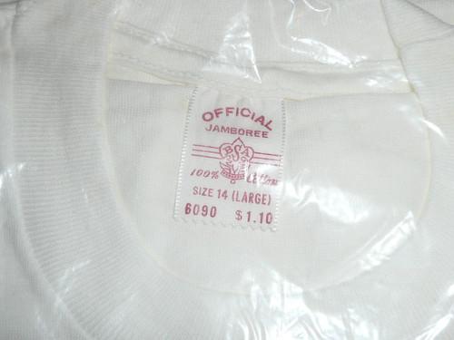 1960 National Jamboree Tee Shirt, Youth Large, New in Bag