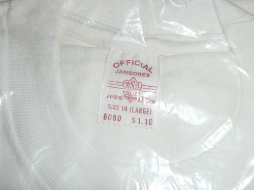1960 National Jamboree Tee Shirt, Youth Large, New in Bag