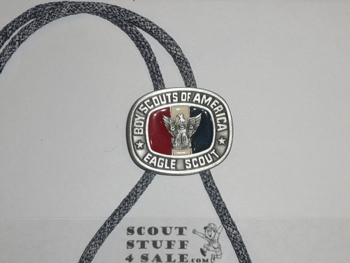 Eagle Scout Bolo Tie, Enameled, New condition, GREAT EAGLE SCOUT GIFT