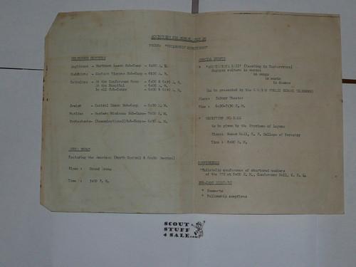 1959 World Jamboree Program for Monday July 20, 1959