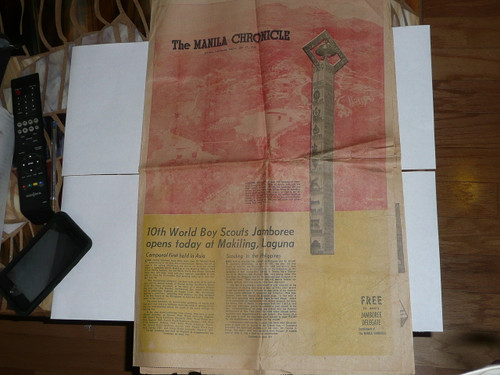 1959 World Jamboree, Manila Chronicle Magazine printed for Jamboree Attendees