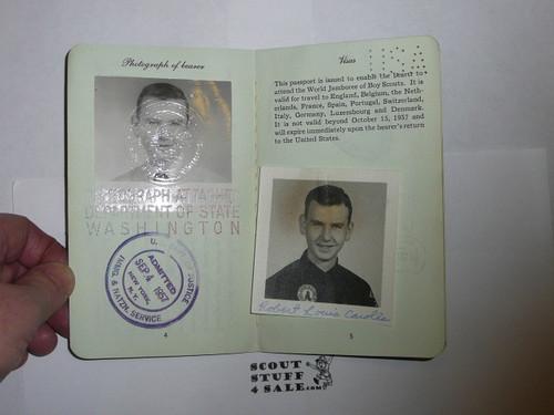 1957 World Jamboree, USA Special Passport for BSA Contingent Member Travel