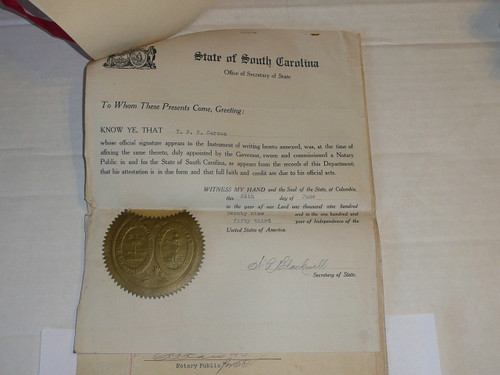 1929 World Jamboree, Special Travel Documents for South Carolina Contingent troop Scoutmaster and Scouts from US Government with foreign government stamps, VERY RARE