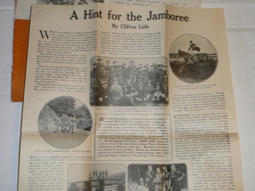 1929 World Jamboree, Special Boys' Life Reprint for BSA/USA Jamboree Contingent Members