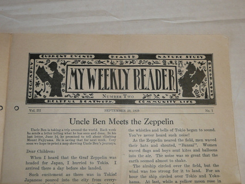 """1929 World Jamboree, Article from """"My Weekly Reader"""" dated Sept 20, 1929 about the Jamboree"""