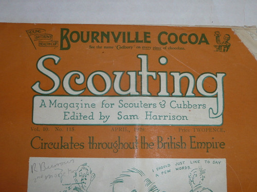 Scouting Magazine from the United Kingdom dated April 1929