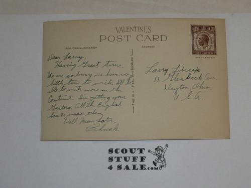 "1929 World Jamboree, Postcard ""Arrowe Park More Trees"""