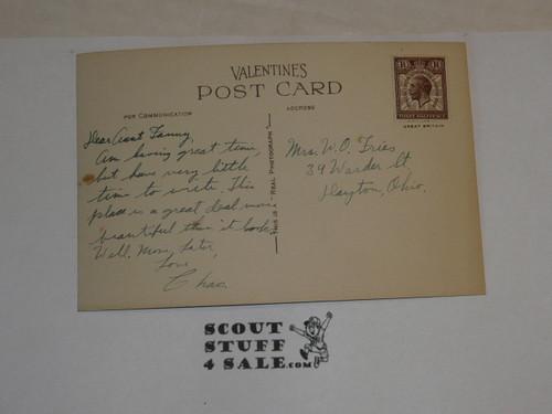"1929 World Jamboree, Postcard ""The Drive, Arrowe Park"""
