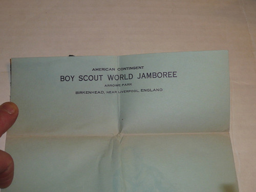 1929 World Jamboree, USA/BSA Contingent Stationary given by Kellogg Co, Unused but from scrapbook