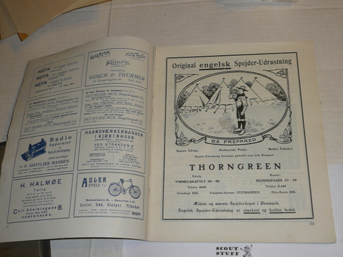 1924 World Jamboree, Denmark Foreign Language Magazine, 48 Pages, great condition