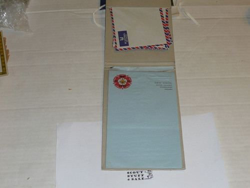 1957 World Jamboree, Official Pad of Stationary and Envelopes, many pages still present