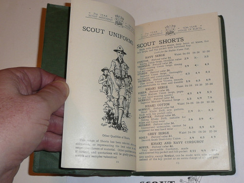 1929 World Jamboree, UK 112 page Boy Scout Catalog traded for at the WJ