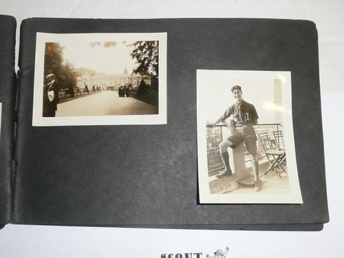 "1929 World Jamboree, Photo Album with 47 3 1/2"" x 2 1/2"" Photos, incl one of West and Beard,  Nice Album!"