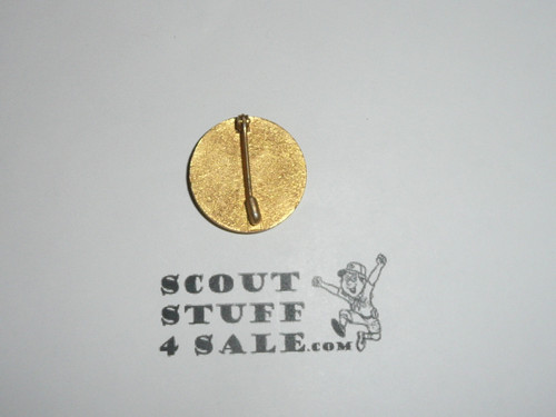 Assistant Scoutmaster Collar Brass, Tall Crown, Safety Pin Back, 1940's