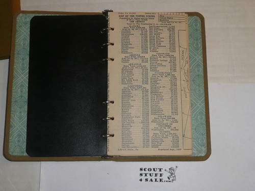Lefax Boy Scout Fieldbook, Canvas Binding, Includes Many BSA and Lefax Inserts