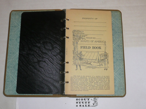 Lefax Boy Scout Fieldbook, Canvas Binding, Includes BSA Cover Page & Numerous Boy Scout and Lefax Inserts