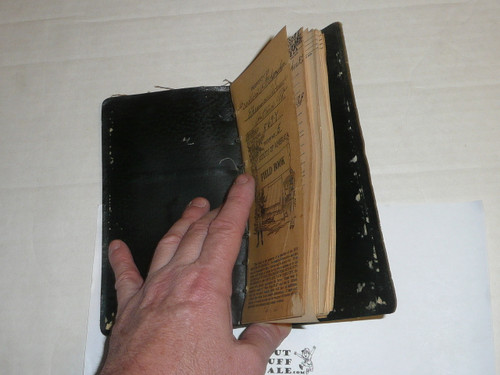 Lefax Boy Scout Fieldbook, Leather Binding, no backside to the leather cover, Includes BSA cover page and many Lefax standard pages