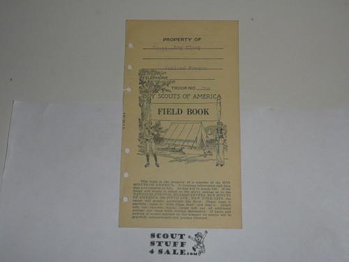 Lefax Boy Scout Fieldbook Insert, Boy Scout Field Book Cover Page