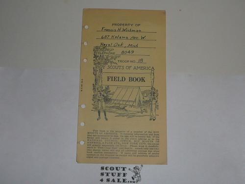 Lefax Boy Scout Fieldbook Insert, Boy Scout Field Book Cover Page #2