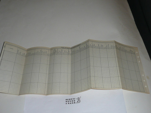 Lefax Boy Scout Fieldbook Insert, 1954 Troop Merit Badge and Achievement Tracking sheet, BS716