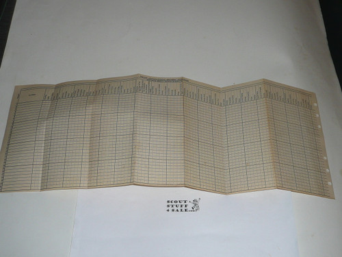 Lefax Boy Scout Fieldbook Insert, 1940's Troop Merit Badge and Achievement Tracking sheet, BS716