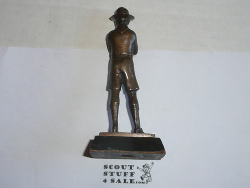 1930s boy scout statue, bronze, presented in 1935, high quality, rare, 5 high by 2.25 wide