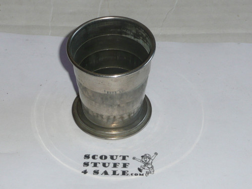 1920s boy scouts of america collapsable cup, tin